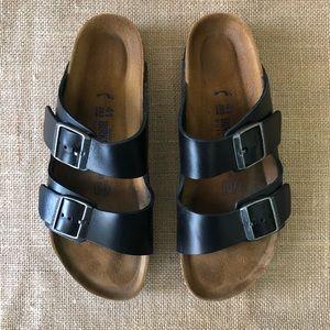 Birkenstock Arizona Sandal Black Leather Narrow